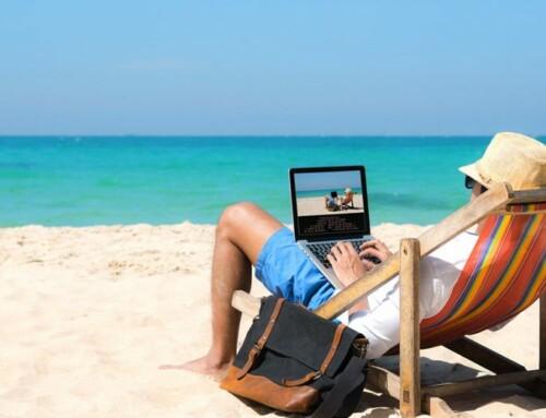 Smart working sulla spiaggia